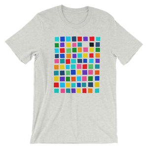 Boxes - 1 - WHITE GRAPHIC ART T-SHIRT t-shirt- Doodles by Wessel