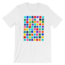Load image into Gallery viewer, Boxes - 1 - WHITE GRAPHIC ART T-SHIRT t-shirt- Doodles by Wessel