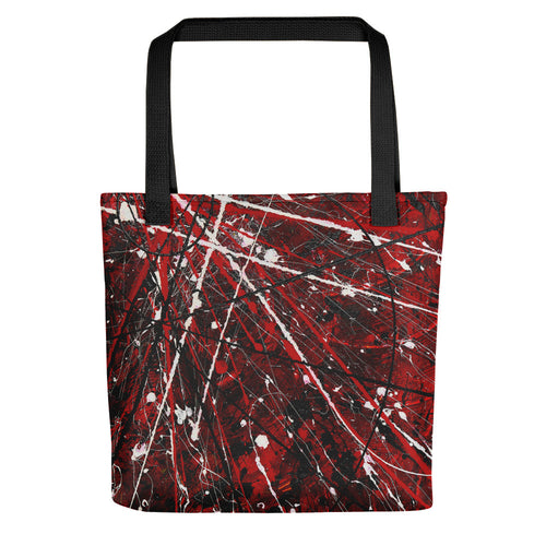 Abstract - GATEWAY TO DARkNESS Tote- Doodles by Wessel