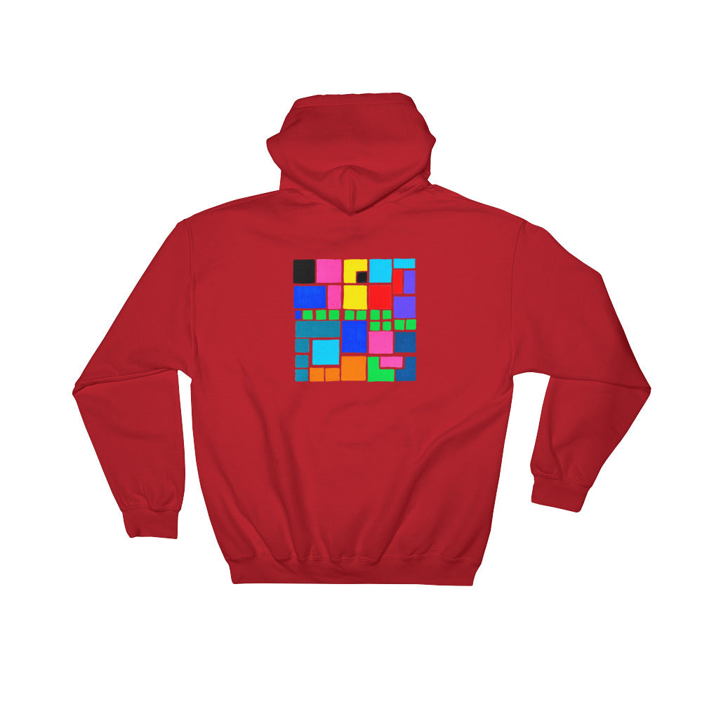 Boxes Series 3 - 4 - RED BACK PRINT PULLOVER HOODIE