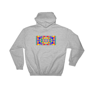 Boxes - 5 - 3 - ATHLETIC GRAY GRAPHIC ART PULLOVER HOODIE Hoodie- Doodles by Wessel