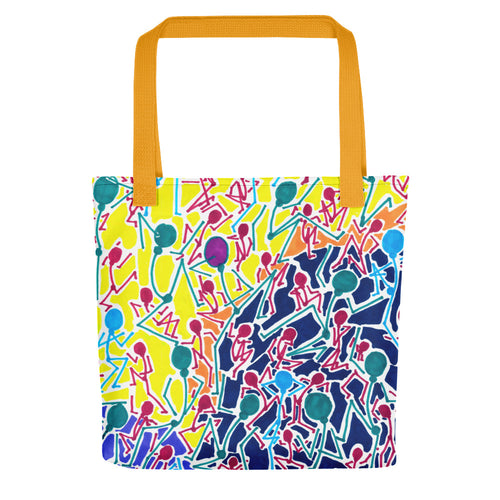 The Stick Figures 1 - GRAPHIC ART TOTE Tote- Doodles by Wessel