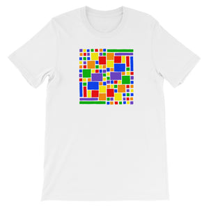Boxes - 5 - 2- WHITE GRAPHIC ART T-SHIRT t-shirt- Doodles by Wessel