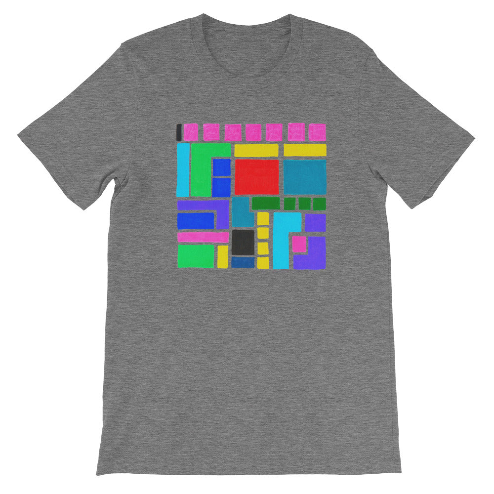 Boxes Series 3 - 5 - DEEP HEATHER GRAPHIC ART T-SHIRT t-shirt- Doodles by Wessel