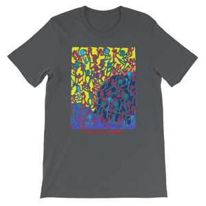 Doodles by Wessel - The stick figures 1 UNISEX T-SHIRT - Doodles by Wessel
