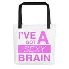 Load image into Gallery viewer, Wordmash - I've Got a Sexy Brain Tote- Doodles by Wessel