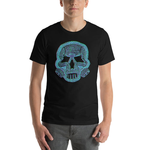 The Self Preservation Society Est. Today Skull and mask BLUE