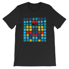 Load image into Gallery viewer, Boxes - 3 - BLACK GRAPHIC ART T-SHIRT t-shirt- Doodles by Wessel