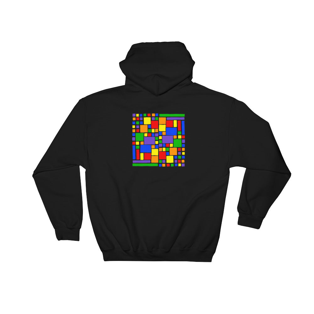 Boxes - 5 - 2 - BLACK GRAPHIC ART PULLOVER HOODIE