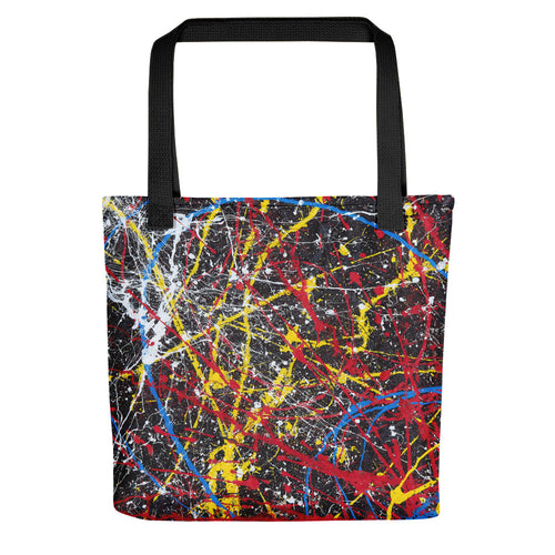 abstract - untitled 13 Tote- Doodles by Wessel