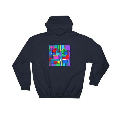 Boxes 6 - 2 - NAVY GRAPHIC ART PULLOVER HOODIE
