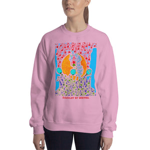 Doodles by Wessel - The Stick Figures 7 WOMENS SWEATER