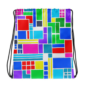 Boxes 6 - 2 DRAWSTRING BAG draw string bag- Doodles by Wessel