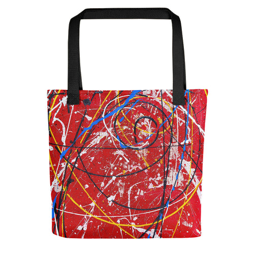 abstract - Untitled 14 Tote- Doodles by Wessel