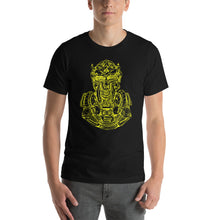 Load image into Gallery viewer, Scribbles - Cool mask or robot overlord? UNISEX T-SHIRT t-shirt- Doodles by Wessel