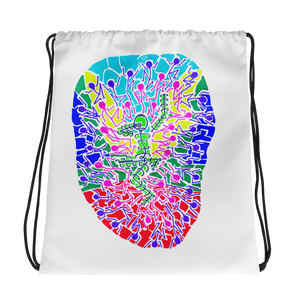 The Stick Figures 9- New Beginnings - GRAPHIC ART DRAWSTRING BAG