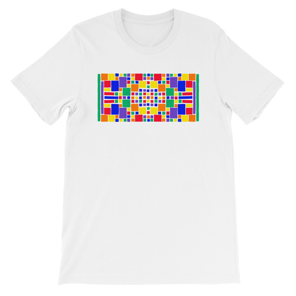 Boxes - 5 - 3- WHITE GRAPHIC ART T-SHIRT t-shirt- Doodles by Wessel