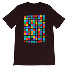 Load image into Gallery viewer, Boxes - 5 - BLACK GRAPHIC ART T-SHIRT t-shirt- Doodles by Wessel