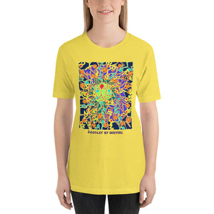Doodles by Wessel - The Stick Figures 8 UNISEX T-SHIRT t-shirt- Doodles by Wessel