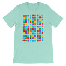 Load image into Gallery viewer, Boxes - 5 - WHITE GRAPHIC ART T-SHIRT t-shirt- Doodles by Wessel