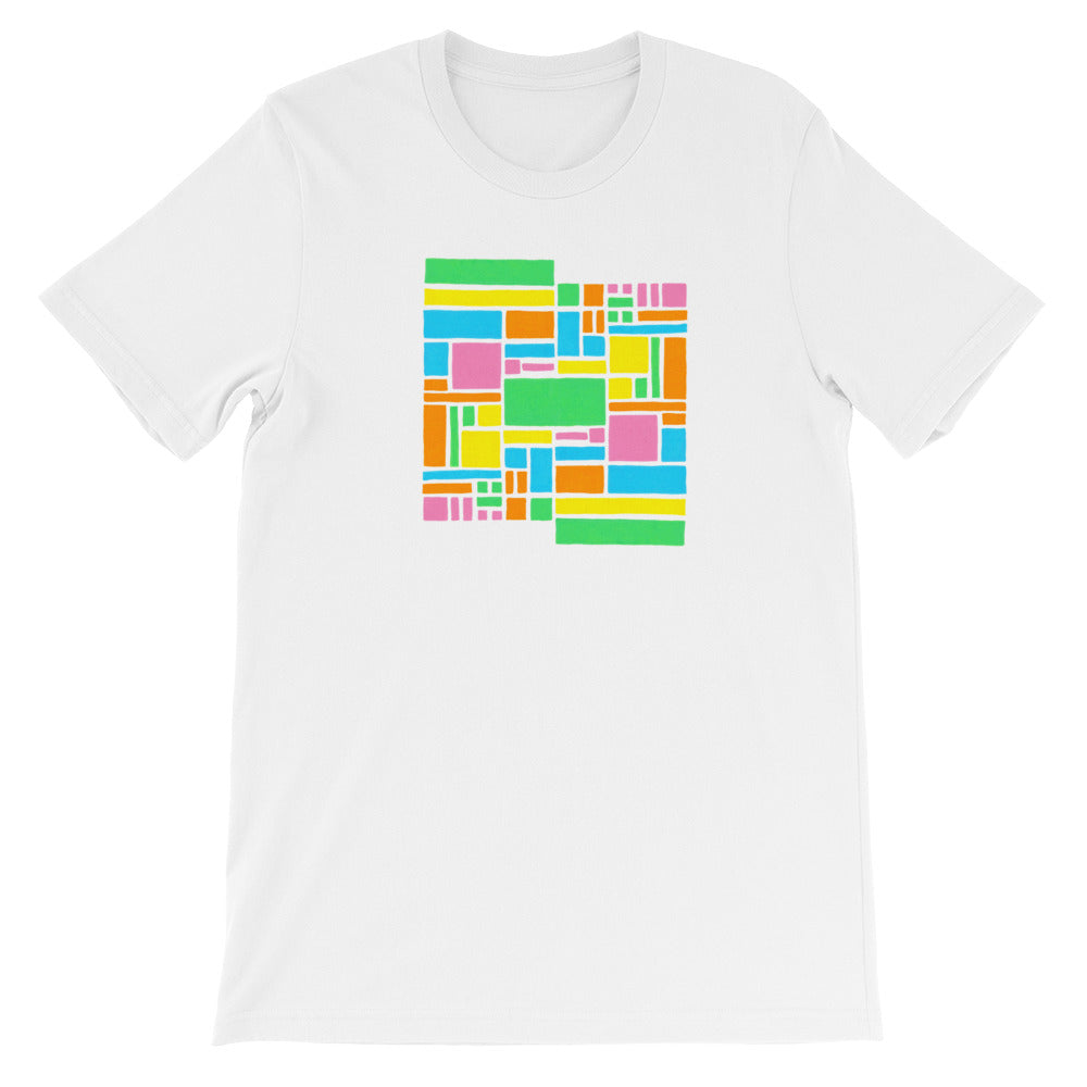 Boxes - 5 - 1 - WHITE GRAPHIC ART T-SHIRT