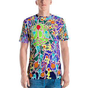 Doodles by Wessel - The Stick Figures 8 ALL OVER PRINT GRAPHIC TEE
