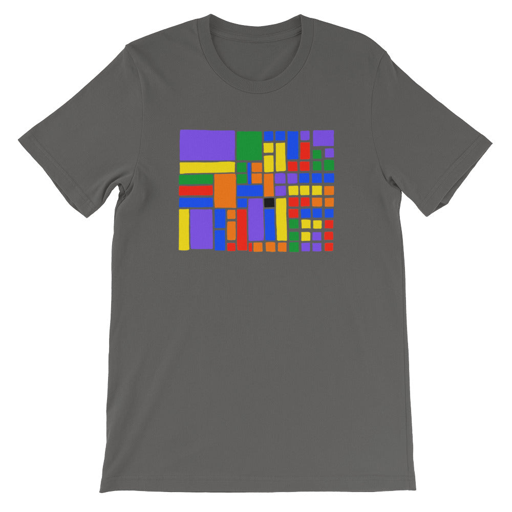Boxes - 6 - 1 - ASPHALT GRAPHIC ART T-SHIRT t-shirt- Doodles by Wessel