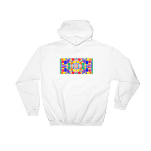 Boxes - 5 - 3 - WHITE GRAPHIC ART PULLOVER HOODIE