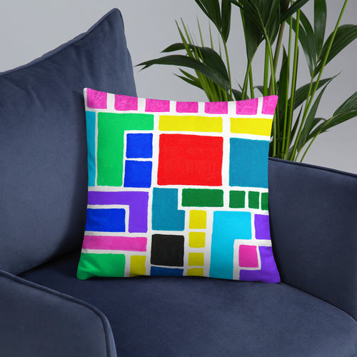 Boxes 15 THROW PILLOW pillow- Doodles by Wessel