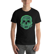 Load image into Gallery viewer, The Self Preservation Society Est. Today Skull and mask GREEN