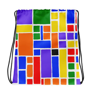 Boxes 6 - 1 DRAWSTRING BAG draw string bag- Doodles by Wessel