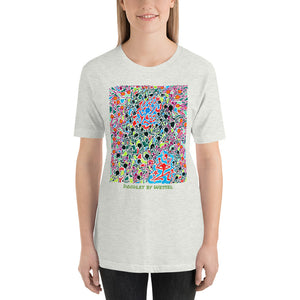 Doodles by Wessel - The stick figures 5 UNISEX T-SHIRT t-shirt- Doodles by Wessel