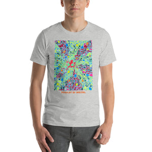 Doodles by Wessel - The stick figures 3 UNISEX T-SHIRT t-shirt- Doodles by Wessel