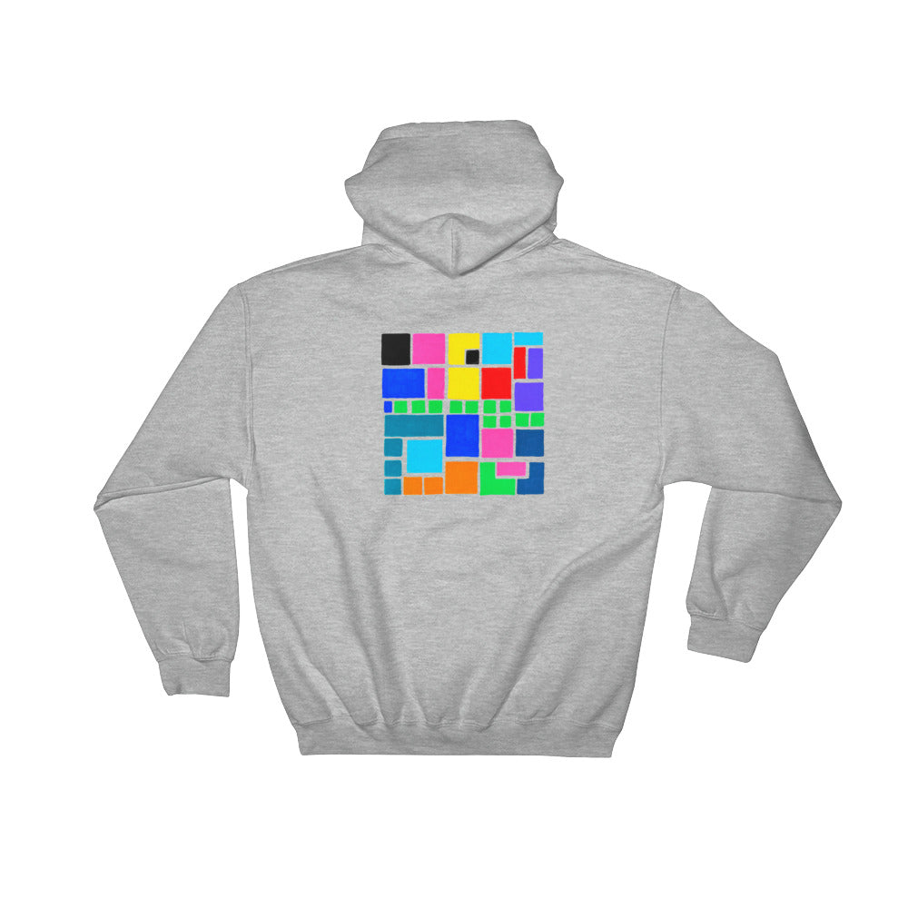 Boxes Series 3 - 4 - HEATHER  BACK PRINT PULLOVER HOODIE Hoodie- Doodles by Wessel