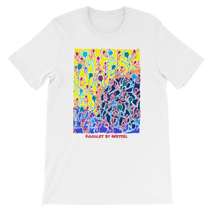 Doodles by Wessel - The stick figures 1 UNISEX T-SHIRT t-shirt- Doodles by Wessel