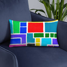 Load image into Gallery viewer, Boxes 10 THROW PILLOW pillow- Doodles by Wessel