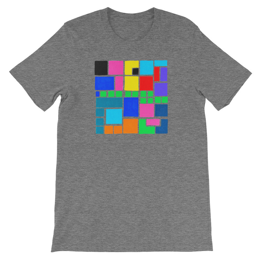 Boxes Series 3 - 4 - DEEP HEATHER GRAPHIC ART T-SHIRT t-shirt- Doodles by Wessel