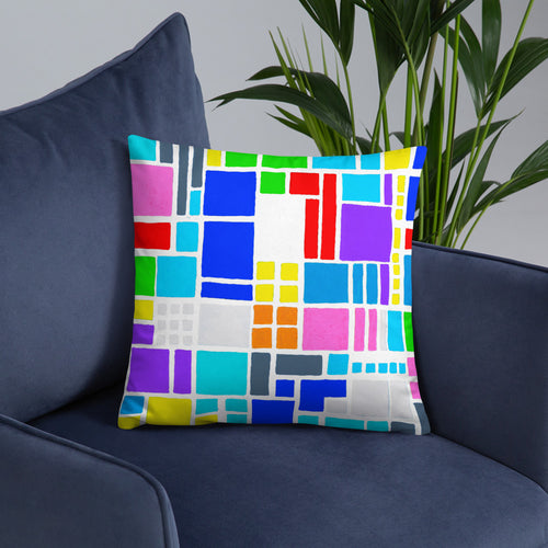 Boxes 18 THROW PILLOW pillow- Doodles by Wessel