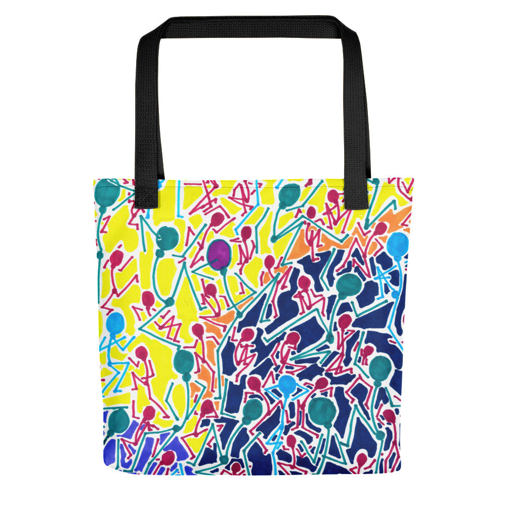 The Stick Figures 1 Tote- Doodles by Wessel