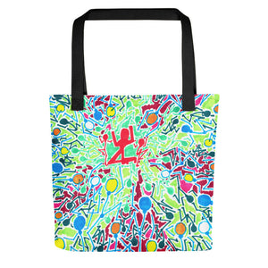 The Stick Figures 3 - GRAPHIC ART TOTE Tote- Doodles by Wessel