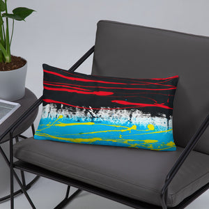 Abstract - OPPOSING STREAMS pillow- Doodles by Wessel