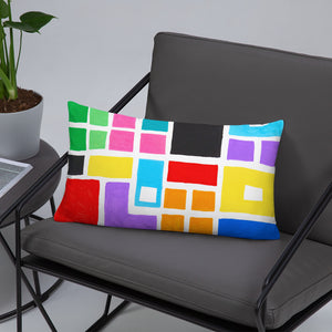 Boxes 4 THROW PILLOW pillow- Doodles by Wessel