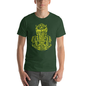 Scribbles - Cool mask or robot overlord? UNISEX T-SHIRT t-shirt- Doodles by Wessel