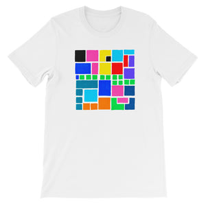 Boxes Series 3 - 4 - WHITE GRAPHIC ART T-SHIRT