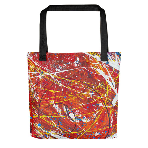 Abstract - TURBULANCE Tote- Doodles by Wessel