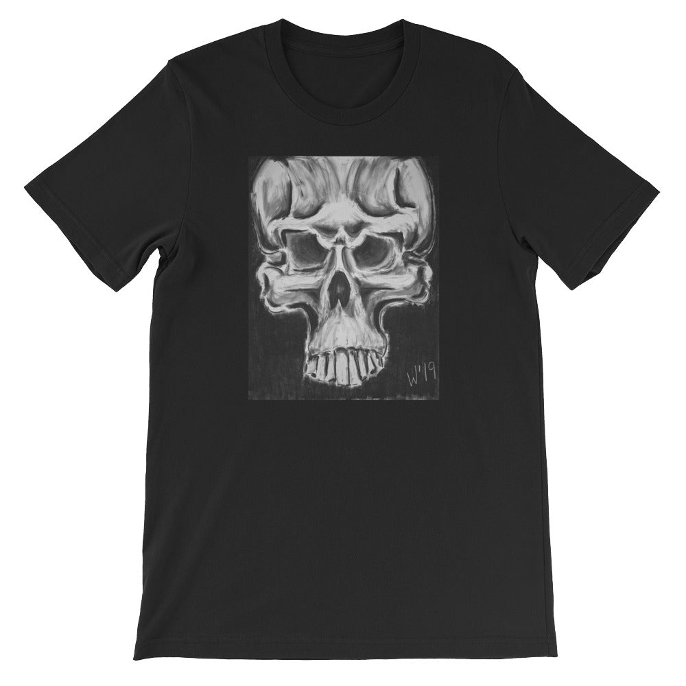 Skulls 1 BLACK CUSTOM ART T-SHIRT