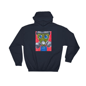 It's the end of the world... and no one cares.  1 - NAVY PULLOVER HOODIE Hoodie- Doodles by Wessel