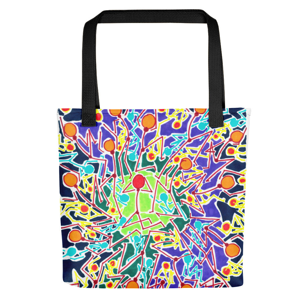 The Stick Figures 8 GRAPHIC ART TOTE Tote- Doodles by Wessel