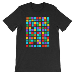 Boxes - 5 - BLACK GRAPHIC ART T-SHIRT t-shirt- Doodles by Wessel