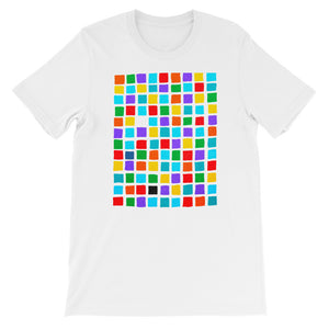 Boxes - 5 - WHITE GRAPHIC ART T-SHIRT t-shirt- Doodles by Wessel